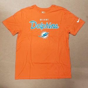 Nike Miami Dolphins T-Shirt  Orange Large